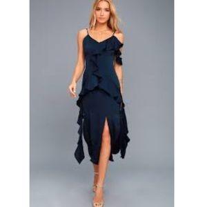 Lulu's Keepsake Navy Sexy Dress